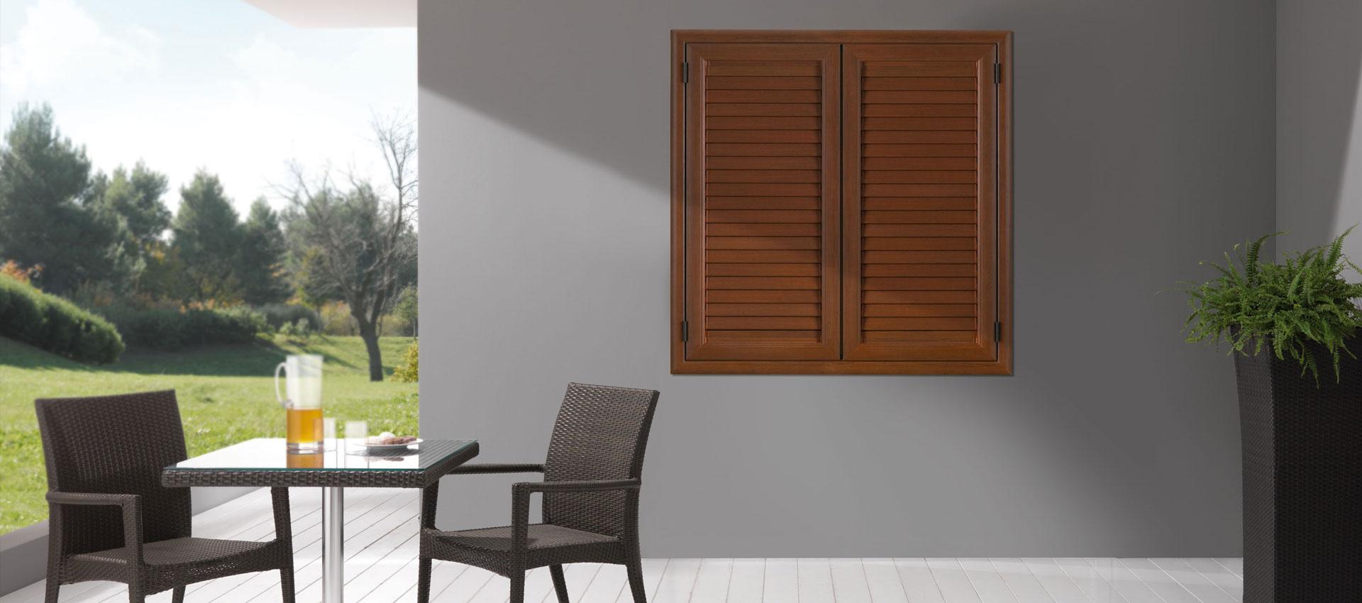 Persiane in alluminio effetto legno effelegno - Costo finestre blindate ...